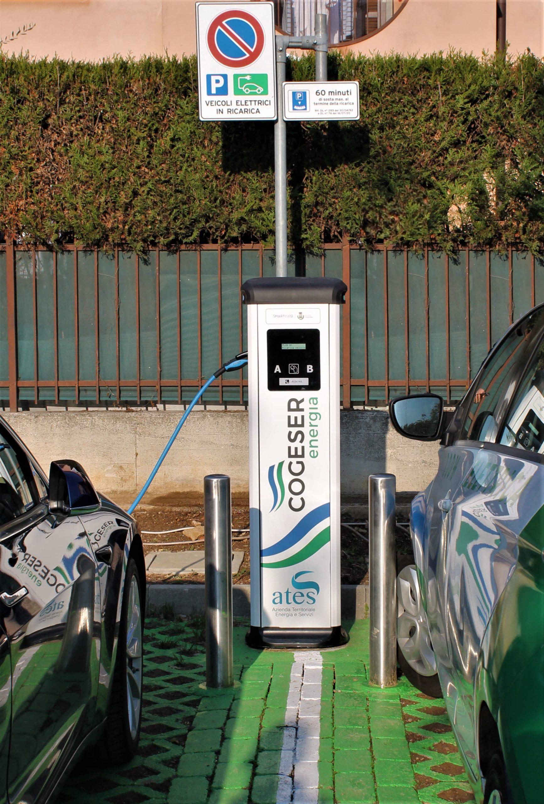 Inaugurate le prime due stazioni di ricarica elettrica targate Ates-Cogeser a Trezzano Rosa!
