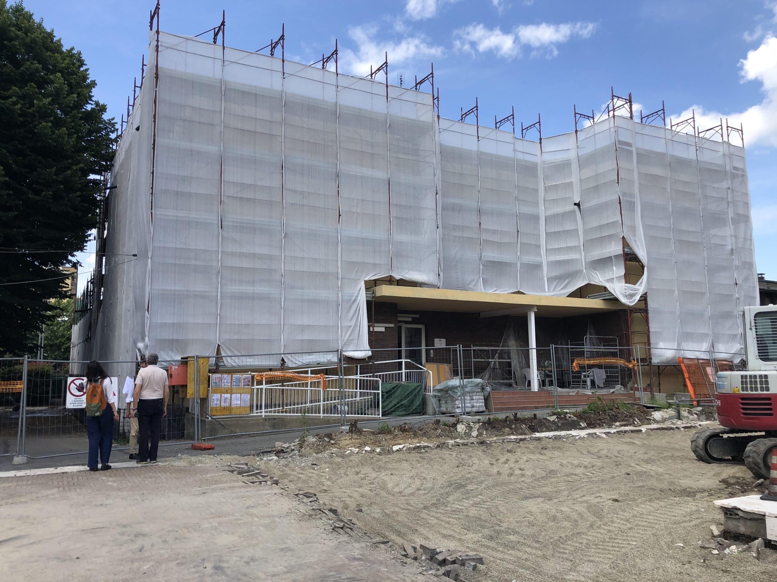 San Giuliano Milanese: in corso i lavori di riqualificazione della ex scuola materna di Piazza della Vittoria