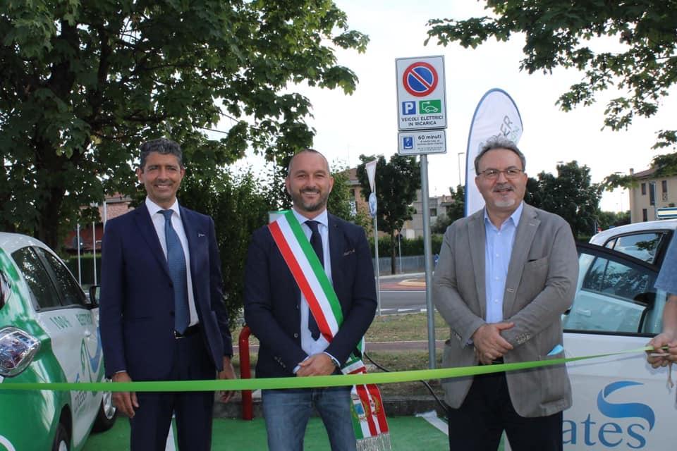Inaugurata la prima stazione di ricarica elettrica a Brusaporto!